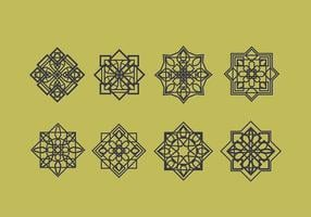 Islamique Ornements Décoration Vecteur