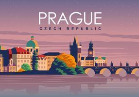 Prague Voyage Poster vecteur