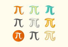 Vecteur libre Pi Symbole