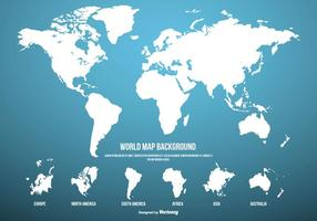 Fond bleu Carte du monde vecteur