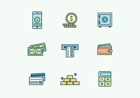 Les icônes bancaires et des finances