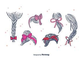 Hand Drawn Vector ruban cheveux