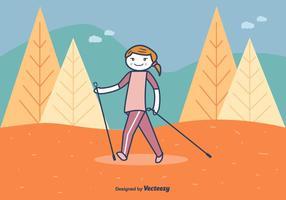 Illustration Vecteur Nordic Walking