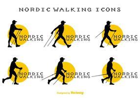 Signes vecteur Nordic Walking