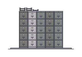 Pile de vecteurs Cabinet de File vecteur