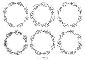 Mignon Sketchy Frame Collection Hand drawn vecteur