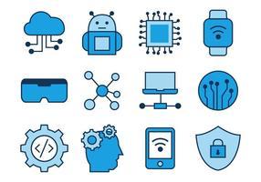 Gratuit Techno ligne Icons Vector