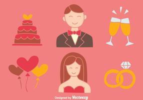 Belle mariage Element vecteurs Collection vecteur
