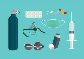 L'asthme Équipement Vecteur libre
