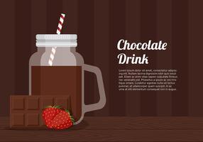 Boisson au chocolat Jar modèle vecteur libre