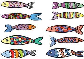 Vecteurs de poissons colorés gratuits vecteur