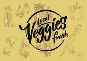 Conception de légumes locaux vecteur