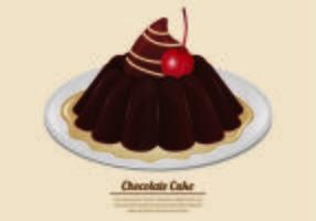 Vecteur de gâteau au chocolat
