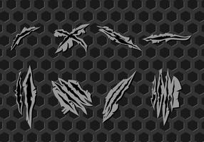 Scratch Metal Marks Vecteur libre