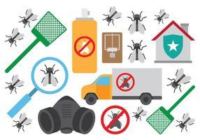 Pest Control Terminate Icônes vecteur