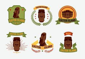 Île de Pâques Statue vecteur Étiquette Illustration