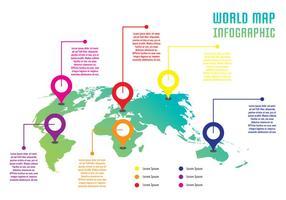 monde infographique vecteur