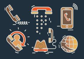 Vecteur téléphonique Internet Communication numérique
