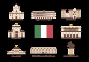 Vecteur d'icônes de Napoli