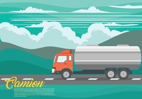 Arrière-plan vecteur camion