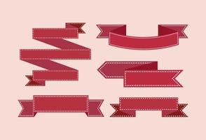 Collection Ruban rouge vecteur