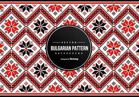 Arrière-plan de motif de broderie bulgare vecteur