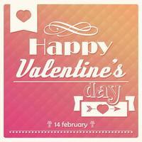 affiche typographique bonne saint valentin vecteur