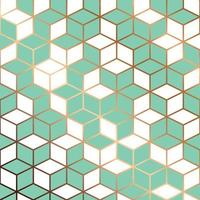 modélisme sans couture avec des lignes géométriques dorées vecteur