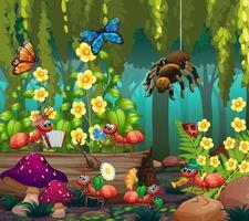 insecte dans la forêt de fées