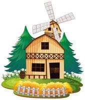 maison de grange en bois isolée vecteur