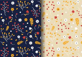 Motif floral d'automne gratuit vecteur