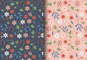 Motif floral vintage gratuit vecteur
