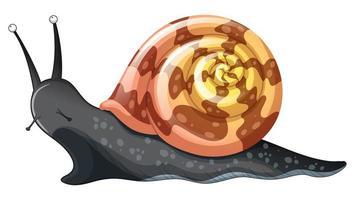 escargot noir sur fond blanc vecteur