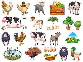 ensemble d & # 39; animaux de la ferme