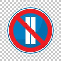 stationnement interdit les jours pairs isolés sur fond transparent