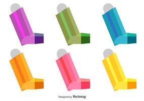 Icônes asthme vecteur