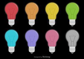 Ensemble d'icônes d'ampoule vectorielle
