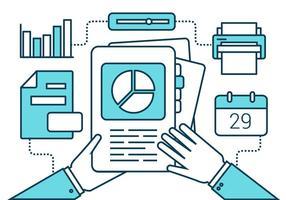 Flat Line gratuit marketing vecteur icônes