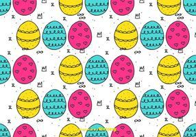 Motif doodle Oeufs de Pâques vecteur