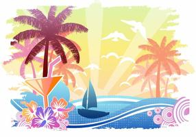 Affiche vintage Playa vecteur