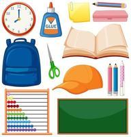 ensemble d & # 39; objets scolaires