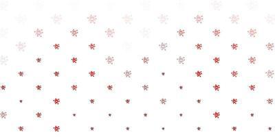 symboles de virus rouges sur fond blanc