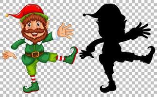 elfe heureux et sa silhouette