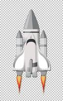 lancement de fusée sur fond transparent