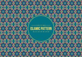 Arrière-plan de modèle de style islamique vecteur