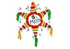 Fun coloré Piñata et Confetti vecteur