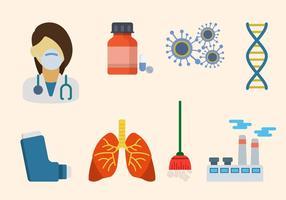 Vecteur asthme plat