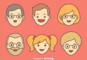 Vecteurs famille heureuse