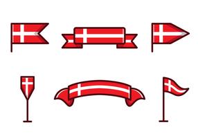 Vecteur libre drapeau danois