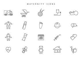 Vecteurs de maternité gratuites vecteur